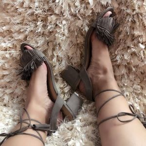 Beautiful Preloved Sandals Taupe Color